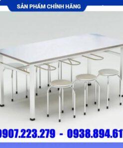 Bộ bàn ăn inox công nghiệp