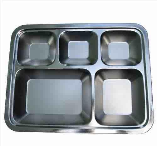Khay Cơm Inox 5 Ngăn (35x27x3) Cm – DN73