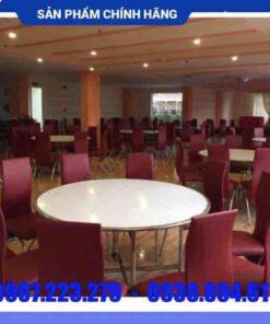 Bàn ghế inox nhà hàng cao cấp - DN23