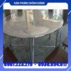 Bàn inox 304 nhà hàng đường kính 1m4 – DN19