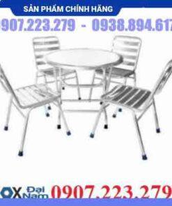 Bộ bàn ghế inox Đại Nam DN002